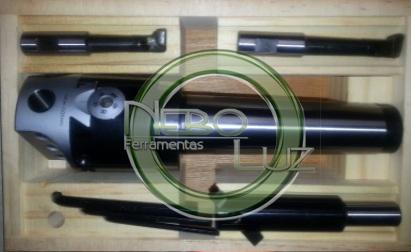 NBLBHC2CM4B Cabeçote de broquear Cone Morse 4 em kit 10 a 150 mm rosca interna no cone. Neboluz