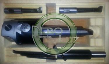 NBLBHC2CM4 Cabeçote de broquear Cone Morse 4 em kit 10 a 150 mm Neboluz